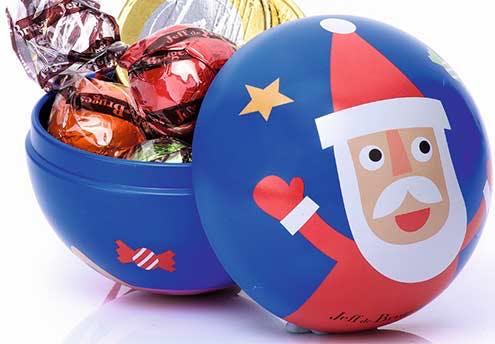Boules de sapin chocolatées