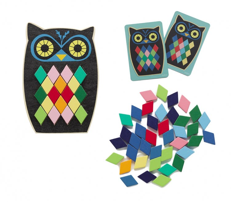 Mosaïque Hibou collection montessori