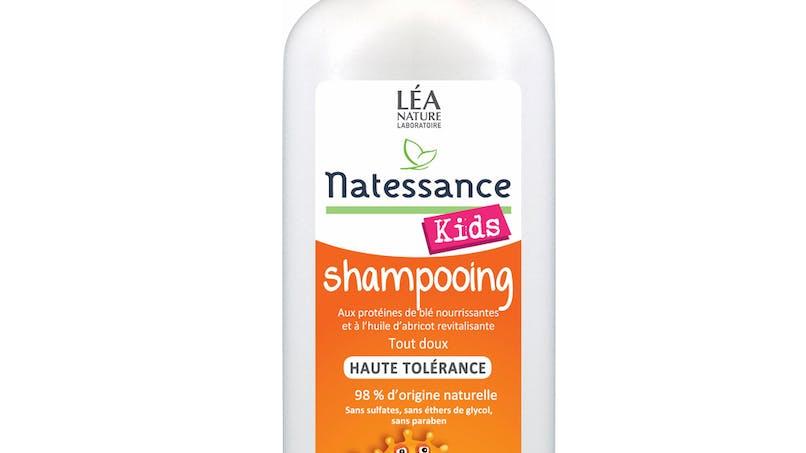 Catégorie Kids Cheveux (shampooing + démêlant) Circuit         sélectif : Shampooing abricot haute tolérance de         Natessance