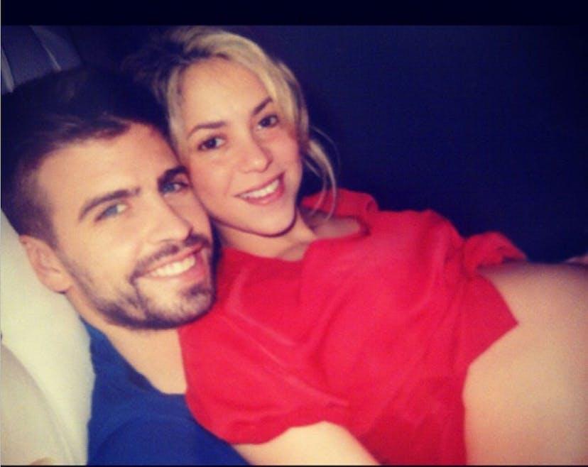 Gerard Piqué et Shakira enceinte de Milan