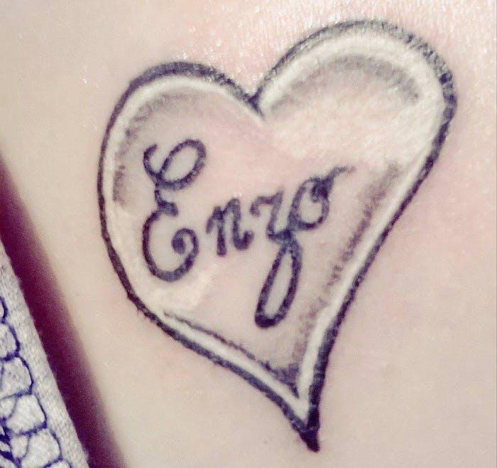 Le tatouage de Gwenaëlle pour Enzo