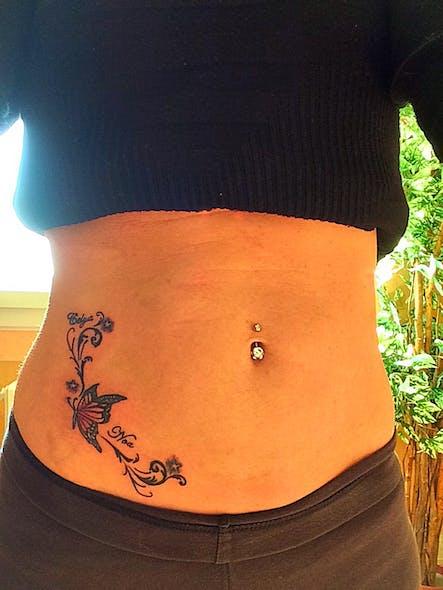 Le tatouage de Laëtitia pour Noah et Célya