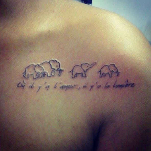 Le tatouage de Léa pour Owen et Logan
