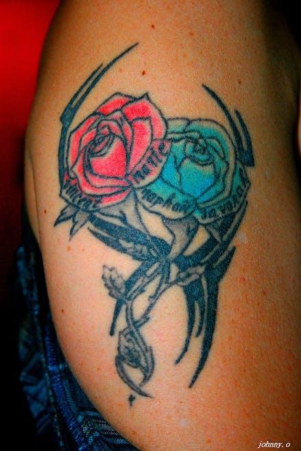 Le tatouage de Marine pour Vincent, Marie, Raphaël et         Savanah