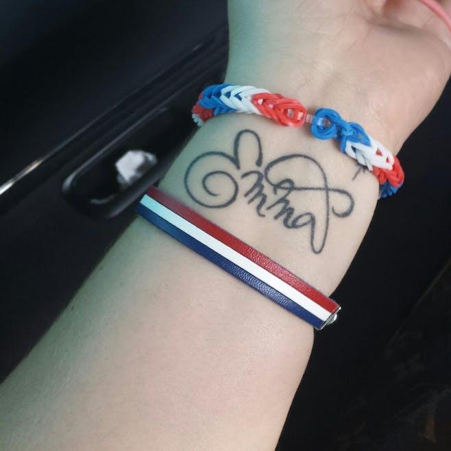Le tatouage de Mélanie pour Emma