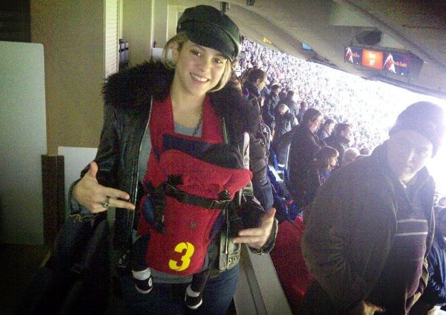 Shakira et Milan, supporters de choc !
