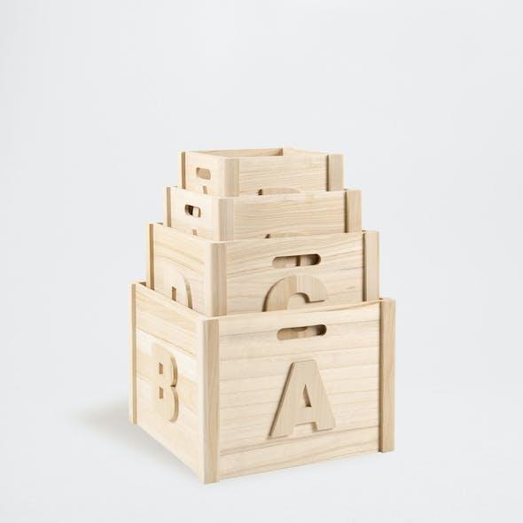 Boîtes en bois naturel