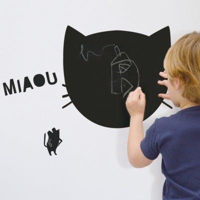 Sticker ardoise Miaou