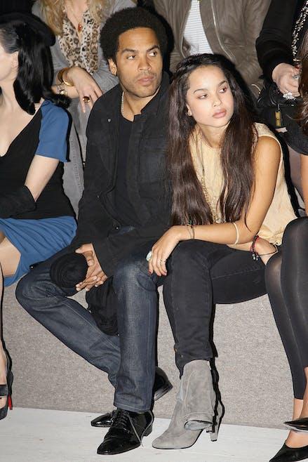 Lenny Kravitz et sa fille Zoé