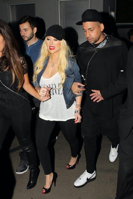 Christina Aguilera, 6 semaines après son         accouchement