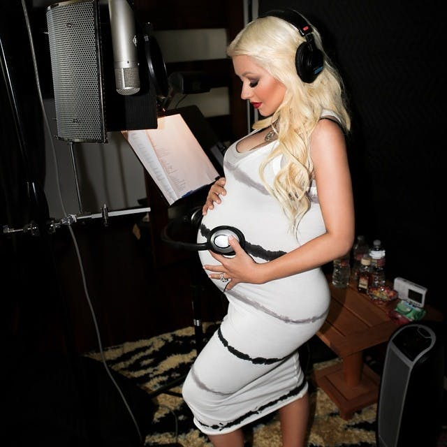 Christina Aguilera, enceinte