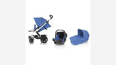 Poussette + nacelle + coque Baby Safe + SHR II de      Britax Go : la plus spacieuse