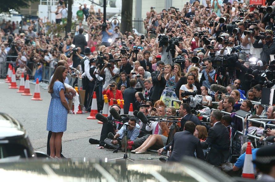 Une foule de photographes pour le prince George