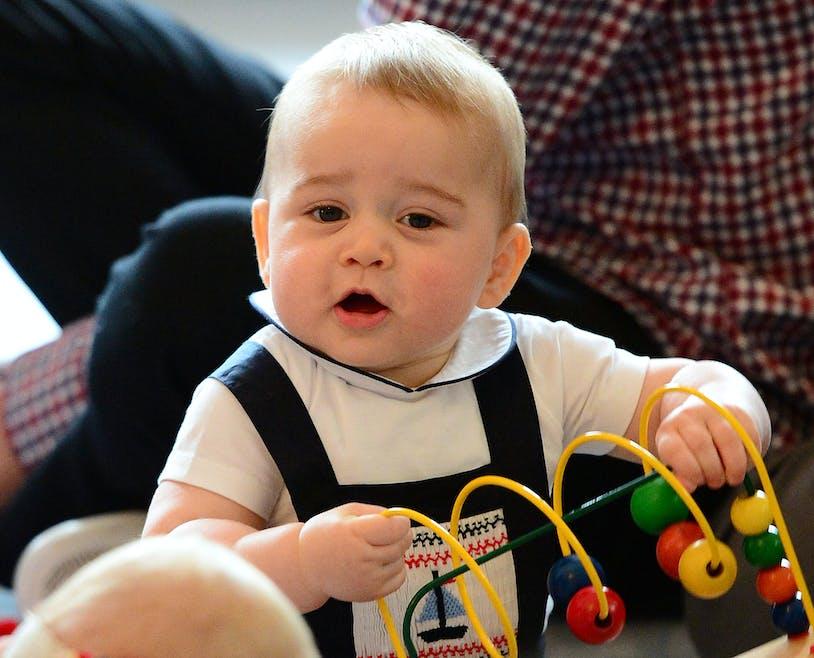 Le prince George en Nouvelle-Zélande...