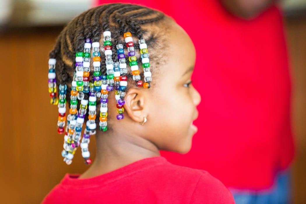Tresses avec perles