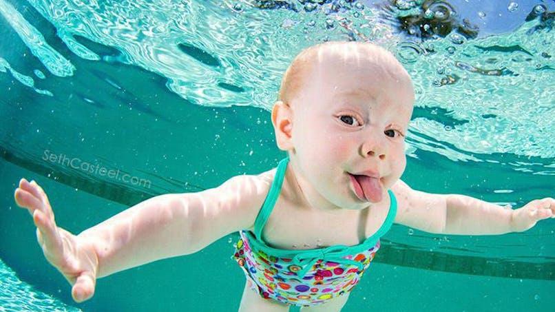 Photos : des bébés nageurs prennent la pose pour la bonne   cause