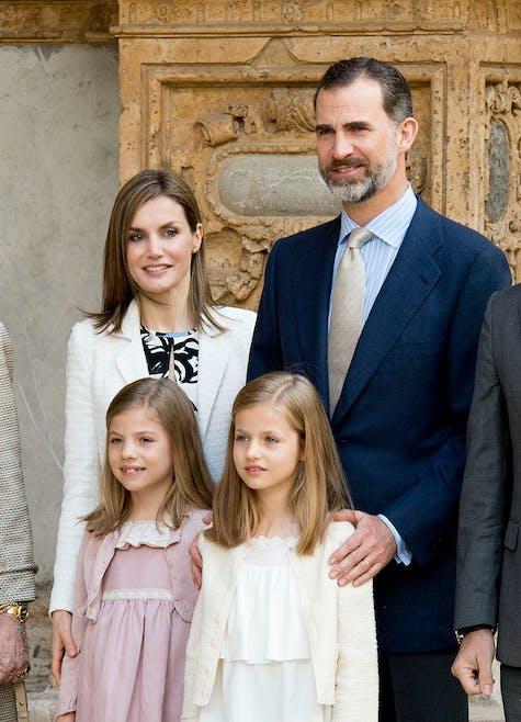 Letizia et Felipe VI d'Espagne avec leurs filles