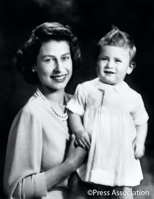 La reine Elizabeth II et le prince Charles