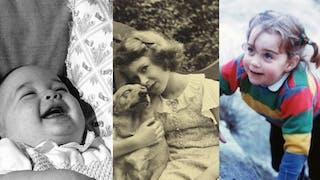 Les photos d'enfance de la famille royale   d'Angleterre