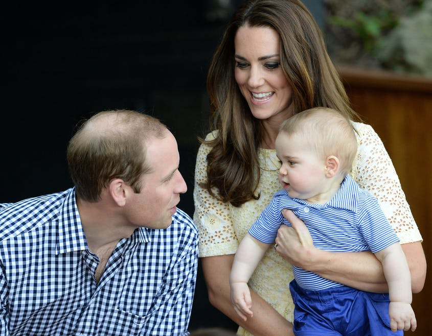 Le prince George, le fils de Kate Middleton et du         prince William