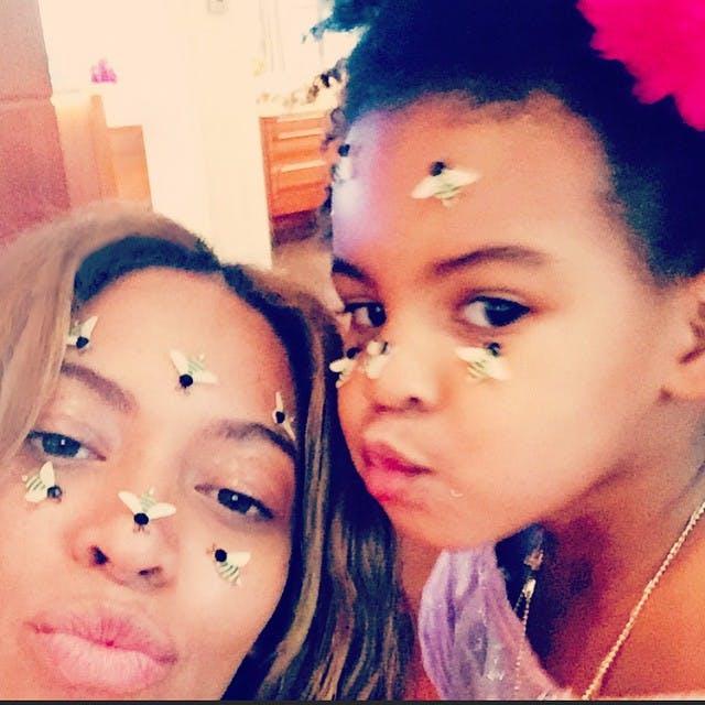 On a reconnu Blue Ivy, la fille de Beyonce et         Jay-Z