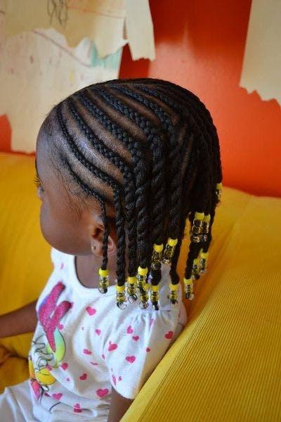 Tresses afro perlées