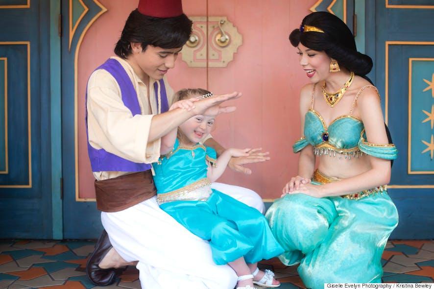 Giselle avec Jasmine et Aladin
