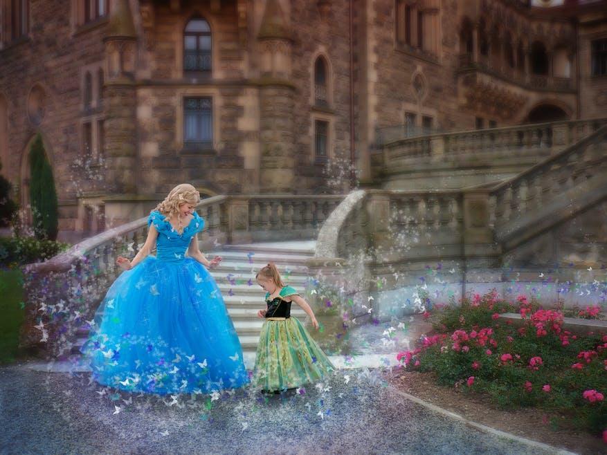 Giselle et Anna de la Reine des neiges