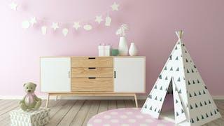 Déco : la tendance pastel pour une chambre  d'enfant