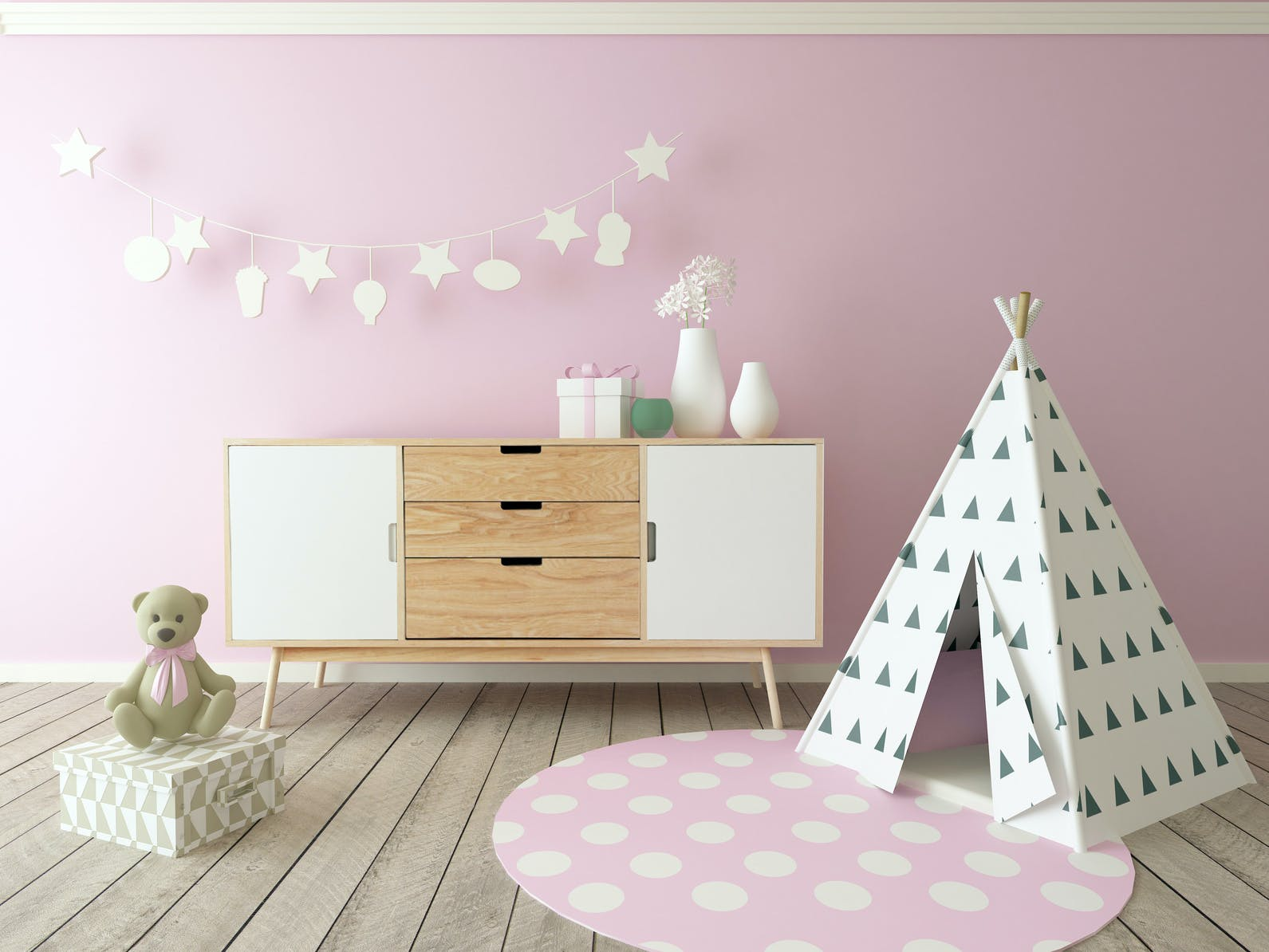 Chambre Rose Poudré Fille déco : la tendance pastel pour une chambre d'enfant | parents.fr