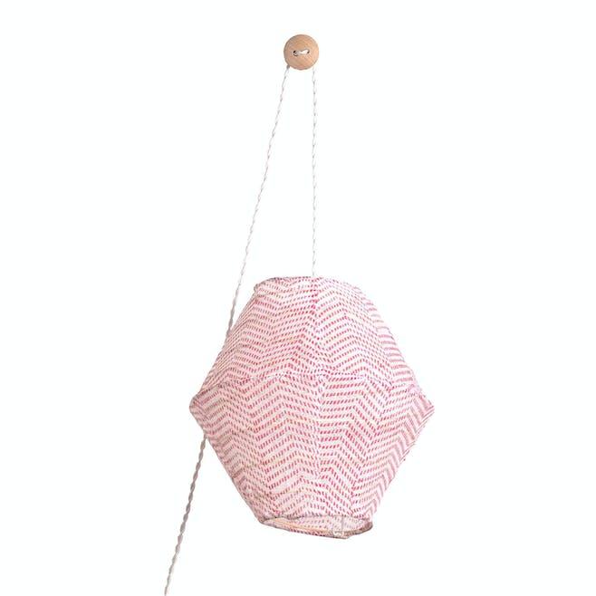 Lanterne Hugo Kyoto Rose Eteint
