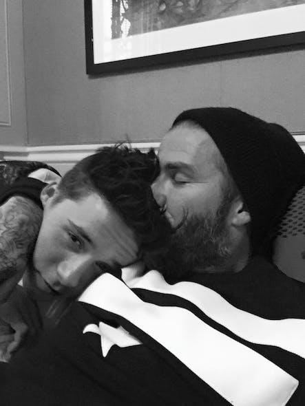 David Beckham et son fils aîné Brooklyn