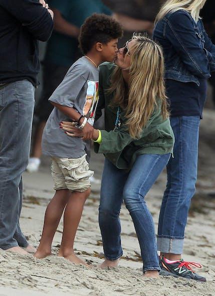 Heidi Klum avec son fils
