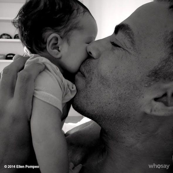 Le mari d'Ellen Pompeo avec leur fille