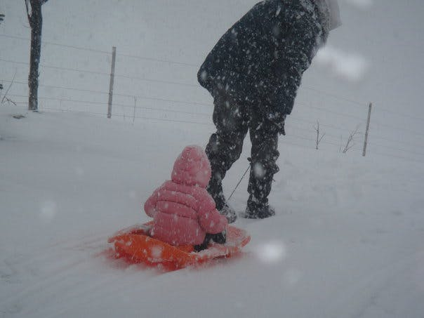 Au ski avec papa