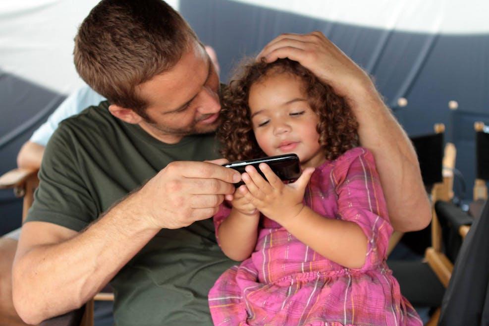 Paul Walker avec Hania, la fille de Vin Diesel