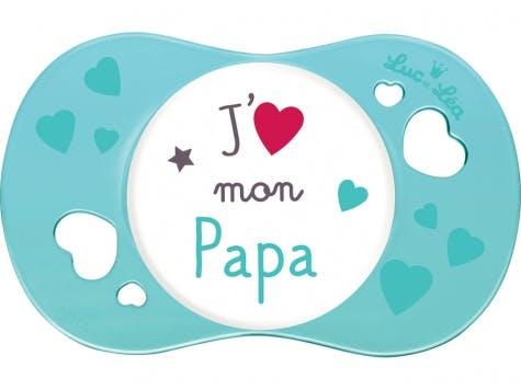 """Sucette """"j'aime mon papa"""""""