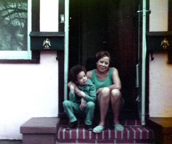 Vin Diesel enfant avec sa grand-mère