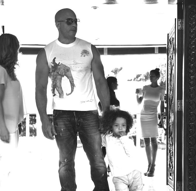 Vin Diesel et son fils Vincent