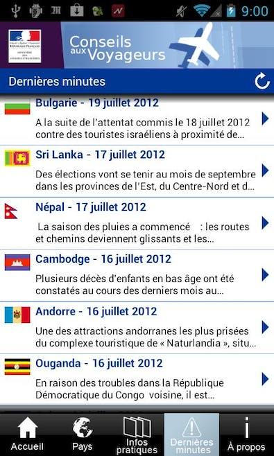 « Conseils aux voyageurs »