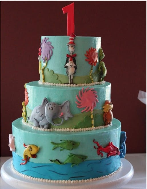 Gâteau monde marin