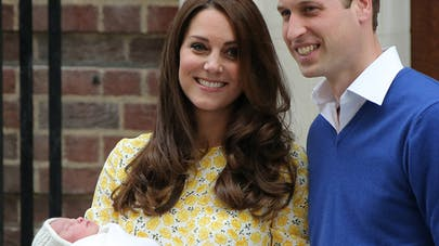 kate Middleton, le prince William et la princesse       Charlotte