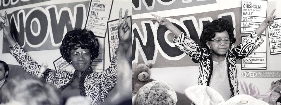 Shirley Chisholm première femme noire à être élue au         Congrès en tant que représentante du douzième district de         Brooklyn