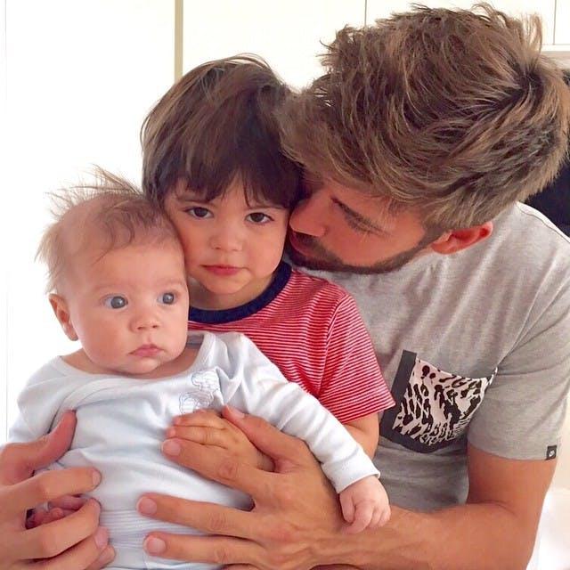 Gerard Piqué et ses fils