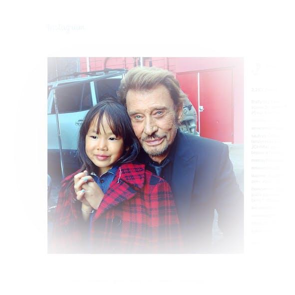 Johnny Halliday et sa fille Joy