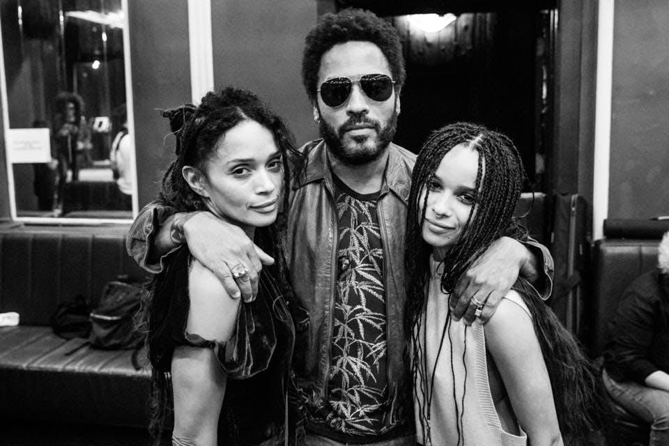 Lenny Kravitz et sa fille Zoë