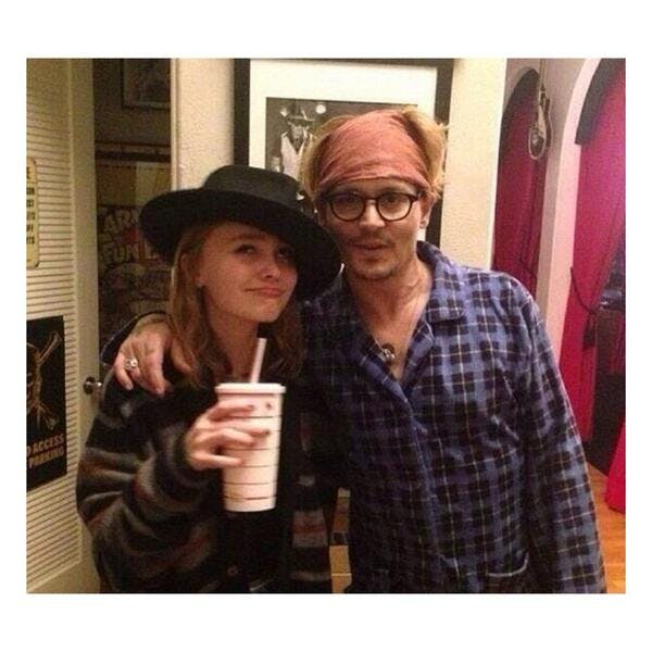 Lily-Rose Depp et son papa