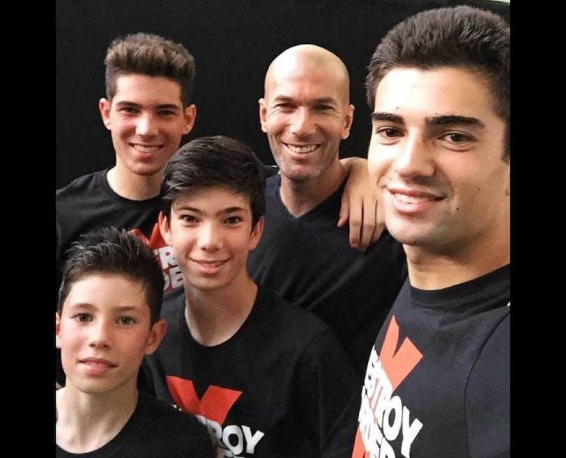 Zinedine Zidane et ses 4 fils