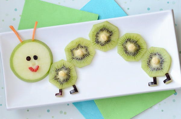 Une assiette qui fait aimer le kiwi