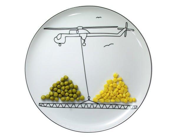 Transport de maïs et de petits pois